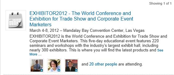 Exhibitor2012 Trade Show Event on LinkedIn