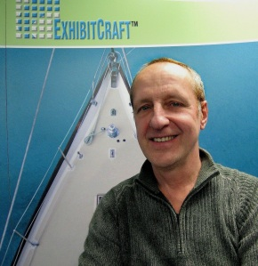 ExhibitCraft Graphic Designer, Nick Bragin