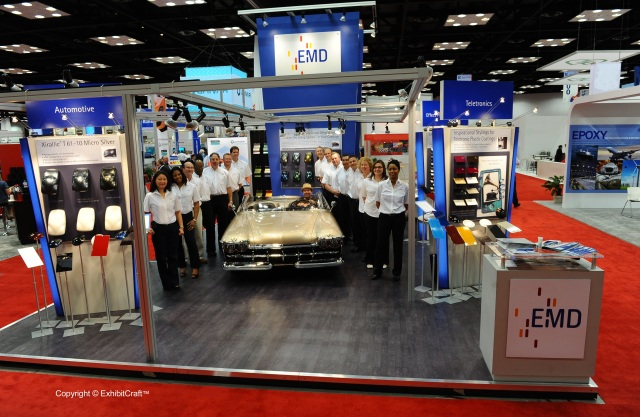 EMD Custom Trade Show Display at the American Coatings Show