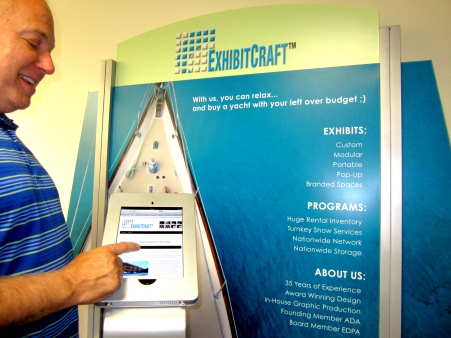 Scott Walode, President and CEO at the new iPad Kiosk