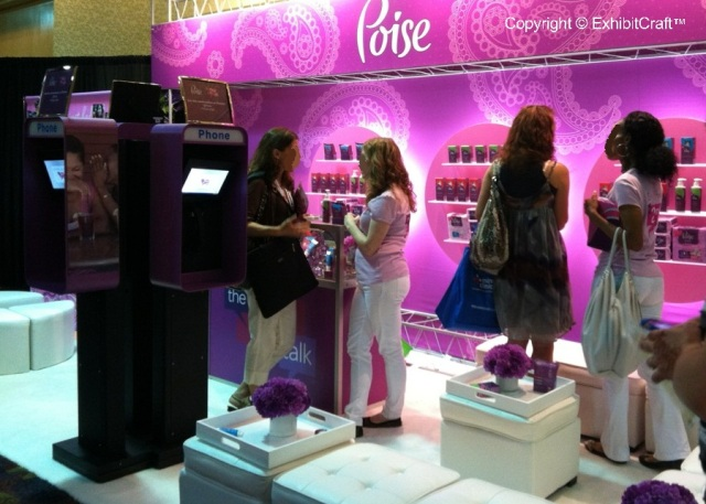 Poise Custom Trade Show Booth at-BlogHer 2012