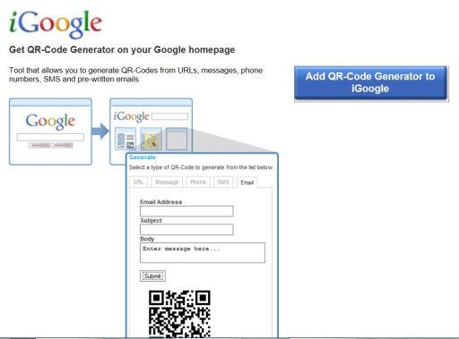 QR code generator iGoogle 2 - ExhibitCraft of New Jersey