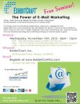ExhibitCraft Event Flyer The Power of Email Marketing 11-14-12