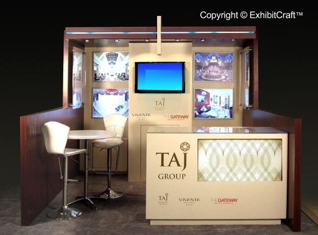 Taj Hotels Custom Trade Show Exhibit - 10'x10' Configuration